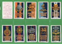 Cigarette cards set  Army Badges 1939 set of 48 complete